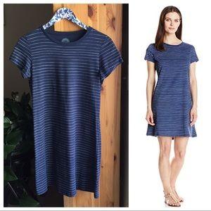Life is Good Blue & White Striped T-Shirt Dress, S